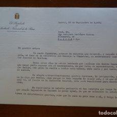 Manuscritos antiguos: FRANQUISMO, FELICITACIÓN PRESIDENTE SINDICATO PESCA AGUSTÍN DE BÁRCENA. Lote 178679643