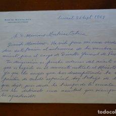 Manuscritos antiguos: FRANQUISMO, FELICITACIÓN RAMON MONTALBAN INGENIERO. Lote 178682087
