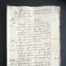 Manuscritos antiguos: AÑO 1777. VILLAMAYOR DE CAMPOS. ZAMORA. LEGAJO 42 PÁGINAS ÚTILES SOBRE QUIÑONES. MARQUÉS DE VILLAR. . Lote 178685652