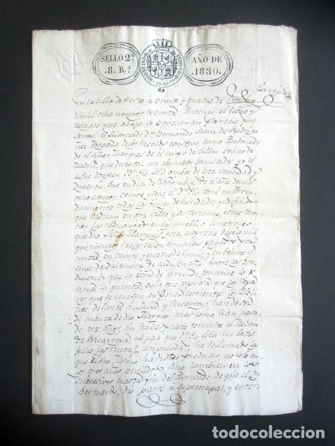 AÑO 1830. HERCE, LOGROÑO. ARRENDAMIENTO DE FINCAS, HEREDADES Y EDIFICIOS. (Coleccionismo - Documentos - Manuscritos)