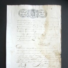 Manuscritos antiguos: AÑO 1833. SELLO TERCERO. SANTA EULALIA DE MONDARIZ. PONTEVEDRA. PLEITO, SISA. NOTIFICACIÓN. . Lote 178686068