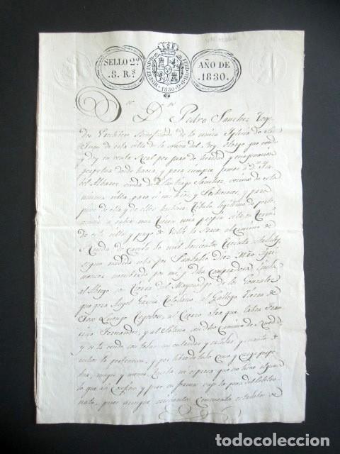 AÑO 1830. NAVA DEL REY. VALLADOLID. VENTA DE TIERRA HACIA CAMINO DE RUEDA DE 1630 ESTADALES. (Coleccionismo - Documentos - Manuscritos)