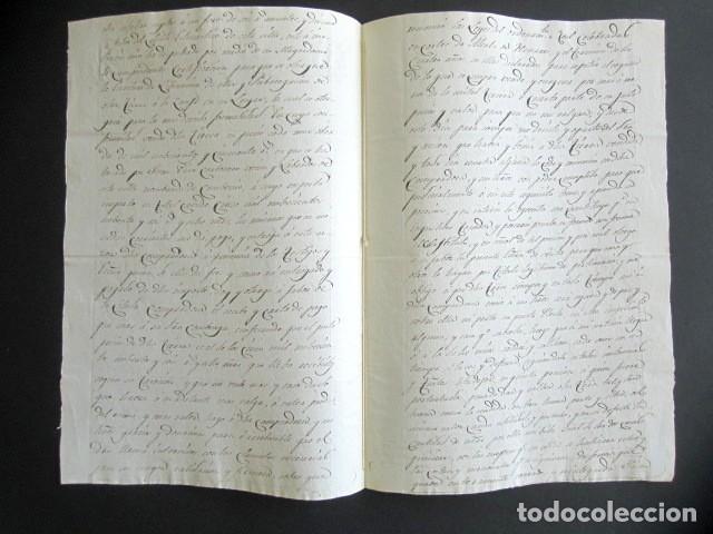 Manuscritos antiguos: AÑO 1830. NAVA DEL REY. VALLADOLID. VENTA DE TIERRA HACIA CAMINO DE RUEDA DE 1630 ESTADALES. - Foto 2 - 178686151
