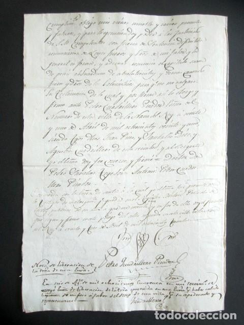 Manuscritos antiguos: AÑO 1830. NAVA DEL REY. VALLADOLID. VENTA DE TIERRA HACIA CAMINO DE RUEDA DE 1630 ESTADALES. - Foto 3 - 178686151