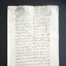 Manuscritos antiguos: AÑO 1729. OLMEDO. VALLADOLID. VENTA DE UNA HUERTA CON ÁRBOLES FRUTALES Y ÁLAMOS NEGROS. 24 PÁGINAS. . Lote 178686252