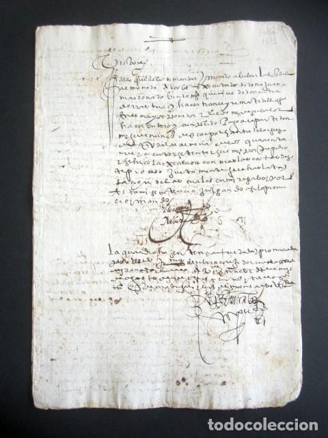 AÑO 1613. GRANADA. FALLO DECLARACIONES, CUENTAS Y PAGOS. (Coleccionismo - Documentos - Manuscritos)