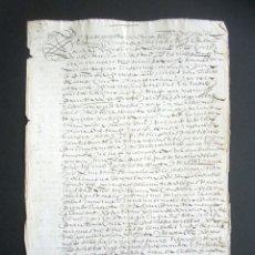 Manuscritos antiguos: AÑO 1605. HUELVA, CORTEGANA. ESCRITURA DE TIERRAS. BARRANCARO, TÉRMINO DE AROCHE. MAYORAZGO. . Lote 178686970