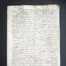 Manuscritos antiguos: AÑO 1595. HUELVA, CORTEGANA. CARTA VENTA DE TIERRA EN LAS ALBERQUILLAS, HEREDAD DEL HITO. MAYORAZGO. Lote 178687131
