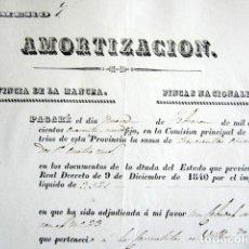 Manuscritos antiguos: AÑO 1842. LA MANCHA, CIUDAD REAL. AMORTIZACIÓN DE FINCAS. MONAJS CARMELITAS DE VILLAROBLEDO. . Lote 178687625