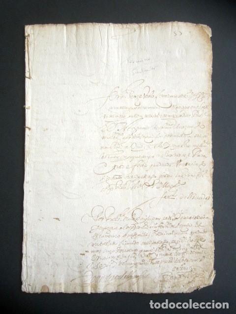 AÑO 1624, TERMINO. SANTANDER. PETICIÓN COMISARIO SANTO OFICIO DE INQUISICIÓN TESTAMENTO. INQUISICIÓN (Coleccionismo - Documentos - Manuscritos)