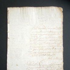 Manuscritos antiguos: AÑO 1624, TERMINO. SANTANDER. PETICIÓN COMISARIO SANTO OFICIO DE INQUISICIÓN TESTAMENTO. INQUISICIÓN. Lote 178688731