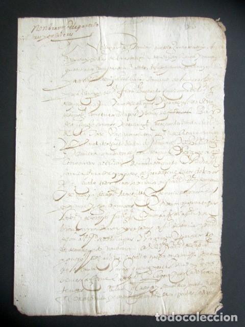 AÑO 1624. TERMINO, SANTANDER. NOMBRAMIENTO DE PARTIDORES Y TAXADORES. MUERTE MARIDO, CURADORES. (Coleccionismo - Documentos - Manuscritos)