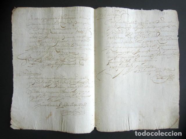 Manuscritos antiguos: AÑO 1624. TERMINO, SANTANDER. NOMBRAMIENTO DE PARTIDORES Y TAXADORES. MUERTE MARIDO, CURADORES. - Foto 2 - 178688880