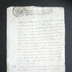 Manuscritos antiguos: AÑO 1800. ZARAGOZA. PODER VIUDA MARQUÉS DE AYERBE Y DE RUBI. ALMANDÍAS, RÍO GALLEGO. . Lote 178689077