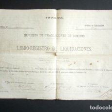 Manuscritos antiguos: AÑO 1873-74. TERUEL. IMPUESTO DE TRASLACIONES DE DOMINIO. NOMBRES, FINCAS, VALOR,... 27 PÁGINAS. . Lote 178689416