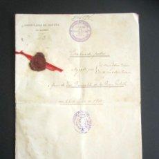 Manuscritos antiguos: AÑO 1902. PODER AL CONSUL ESPAÑOL EN OLORÓN, FRANCIA. TIERRAS Y HEREDADES EN LIMPIAS, SANTANDER. Lote 178689656