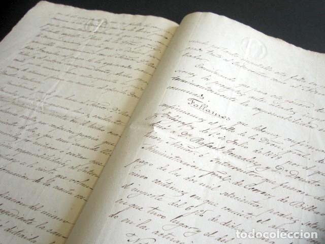 Manuscritos antiguos: AÑO 1887. OFICIO. TRIBUNAL DE CUENTAS DEL REINO DE MADRID. PLEITO Y FALLO. DESFALCO. TEMA FILATELIA. - Foto 3 - 178689883