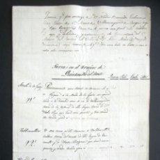 Manuscritos antiguos: AÑO 1824. VILLAMAYOR DE CAMPOS. TASACIÓN TIERRAS EN TÉRMINO DE QUINTANILLAS DEL MONTE. CAMPO VILLAR.. Lote 178709066