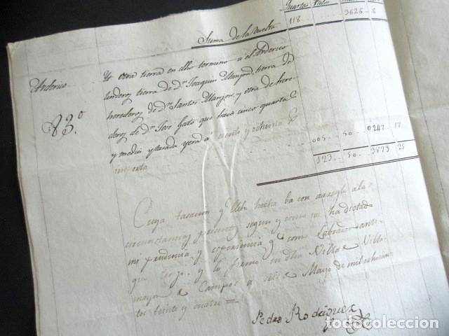 Manuscritos antiguos: AÑO 1824. VILLAMAYOR DE CAMPOS. TASACIÓN TIERRAS EN TÉRMINO DE QUINTANILLAS DEL MONTE. CAMPO VILLAR. - Foto 3 - 178709066