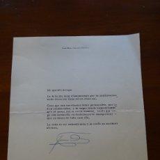 Manuscritos antiguos: FRANQUISMO, FELICITACIÓN JOSE Mº AGUIRRE GONZALO. Lote 178722428