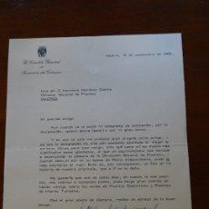 Manuscritos antiguos: FRANQUISMO, FELICITACIÓN DG PROMOCIÓN TURISMO ANTONIO GARCÍA RODRÍGUEZ ACOSTA. Lote 178723673