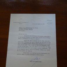 Manuscritos antiguos: FRANQUISMO, FELICITACIÓN EMPRESA NACIONAL DE TURISMO JUAN ARESPACOCHAGA, DESPUÉS ALCALDE DE MADRID. Lote 178724357