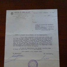 Manuscritos antiguos: FRANQUISMO, FELICITACIÓN JUNTA PUERTO MÁLAGA. Lote 178724856