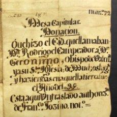 Manuscritos antiguos: FACSÍMIL DEL DOCUMENTO DE DONACIÓN DEL CID A LA IGLESIA DE VALENCIA - RODRIGO DÍAZ DE VIVAR. Lote 178731976