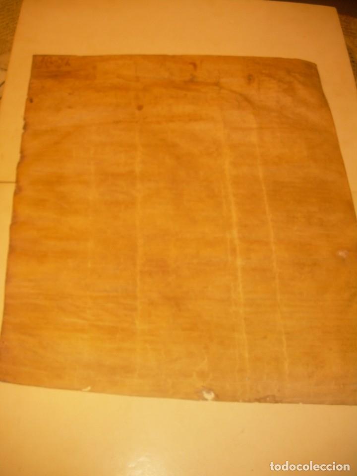 Manuscritos antiguos: ANTIGUA ESCRITURA DE PERGAMINO SIGLO XVI....AÑO 1.527...SERINYA (GIRONA). - Foto 2 - 178962616