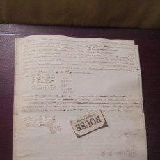 Manuscritos antiguos: ENSEÑANZA- CARDEDEU / TOMAS BALVEY - ANTIGUA LIBRETA DE MATEMATICAS MANUSCRITO S. XIX . Lote 178963425