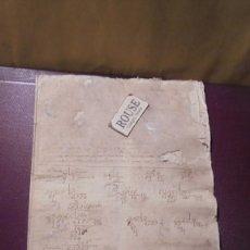 Manuscritos antiguos: ENSEÑANZA- CARDEDEU / TOMAS BALVEY - ANTIGUA LIBRETA DE MATEMATICAS MANUSCRITO S. XIX. Lote 178963797