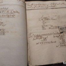 Manuscritos antiguos: ENSEÑANZA- CARDEDEU / TOMAS BALVEY - ANTIGUA LIBRETA DE MATEMATICAS MANUSCRITO S. XIX. Lote 178964422