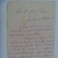 Manuscritos antiguos: CARTA MANUSCRITA DE 1895 , SEVILLA . SIGLO XIX. Lote 178994987