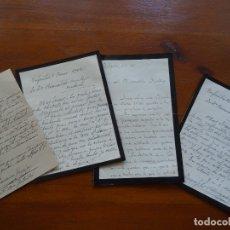 Manuscritos antiguos: CIUDAD REAL,VILLANUEVA DE LOS INFANTES, 4 CARTAS NEGOCIANDO VENTA ORATORIO DE SANTO TOMÁS, 1942 1943. Lote 179078461