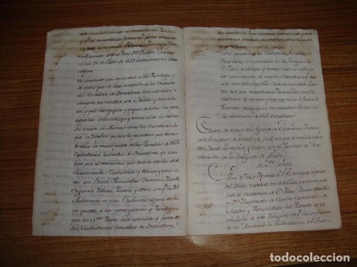 Manuscritos antiguos: PRIVILEGIOS DE CABALLERO A FAVOR DE CIUDADANOS HONRRADOS BARCELONA FERNANDO II CORTES MONZON 1510 - Foto 6 - 179084885