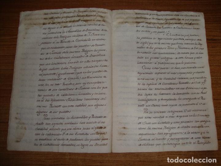 Manuscritos antiguos: PRIVILEGIOS DE CABALLERO A FAVOR DE CIUDADANOS HONRRADOS BARCELONA FERNANDO II CORTES MONZON 1510 - Foto 8 - 179084885