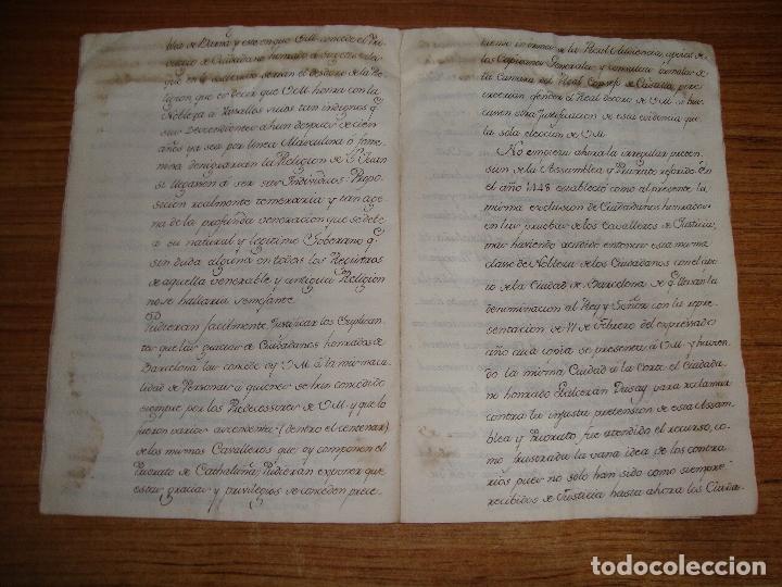 Manuscritos antiguos: PRIVILEGIOS DE CABALLERO A FAVOR DE CIUDADANOS HONRRADOS BARCELONA FERNANDO II CORTES MONZON 1510 - Foto 11 - 179084885