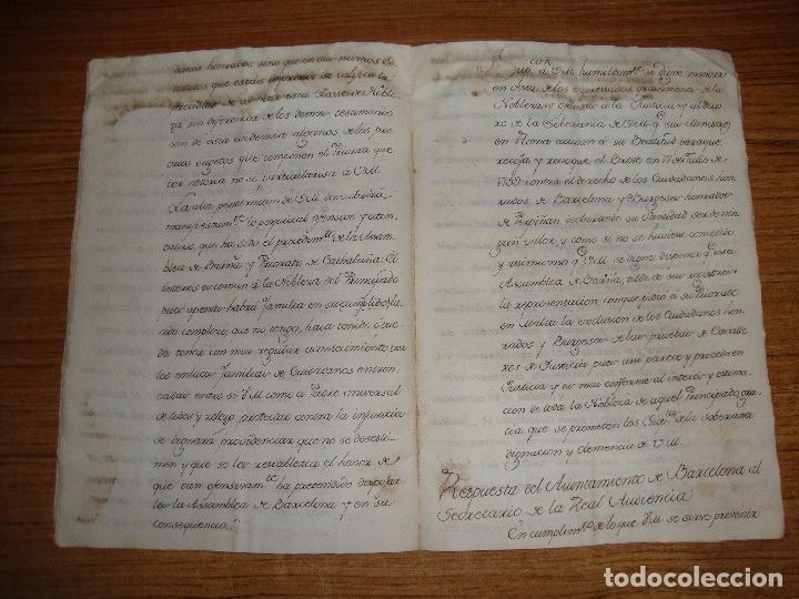 Manuscritos antiguos: PRIVILEGIOS DE CABALLERO A FAVOR DE CIUDADANOS HONRRADOS BARCELONA FERNANDO II CORTES MONZON 1510 - Foto 12 - 179084885