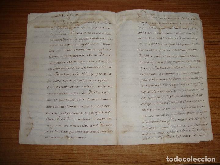 Manuscritos antiguos: PRIVILEGIOS DE CABALLERO A FAVOR DE CIUDADANOS HONRRADOS BARCELONA FERNANDO II CORTES MONZON 1510 - Foto 16 - 179084885