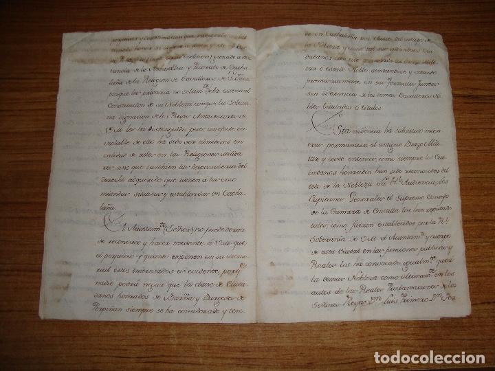 Manuscritos antiguos: PRIVILEGIOS DE CABALLERO A FAVOR DE CIUDADANOS HONRRADOS BARCELONA FERNANDO II CORTES MONZON 1510 - Foto 17 - 179084885