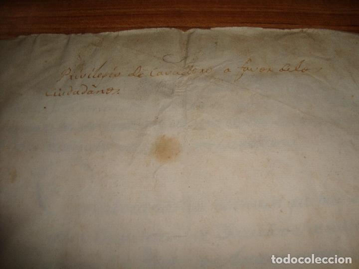 PRIVILEGIOS DE CABALLERO A FAVOR DE CIUDADANOS HONRRADOS BARCELONA FERNANDO II CORTES MONZON 1510 (Coleccionismo - Documentos - Manuscritos)