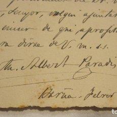 Manuscritos antiguos: CARTA MANUSCRITA DE CATERINA ALBERT PARADIS (VICTOR CATALÀ) A JOAN PERPINYÀ, FEBRER0 1923. Lote 179086711