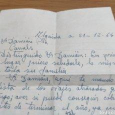Manuscritos antiguos: CARTA MANUSCRITA FIRMADA POR EL CORREDOR CICLISMO GABRIEL MAS AL DIRECTOR DEL EQUIPO CICLISTA FERRYS. Lote 179093187