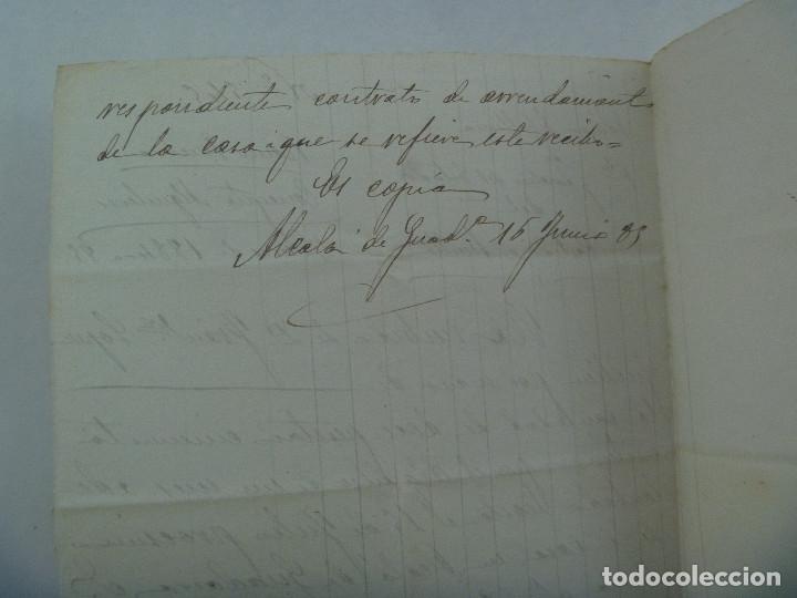 Manuscritos antiguos: CARTA MANUSCRITA ADMINISTRACION ESTADO: RECIBO POR ALQUILERES. ALCALA DE GUADAIRA, 1886 . SIGLO XIX - Foto 2 - 179099830