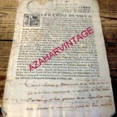 Manuscritos antiguos: FERNANDO DE SILVA ÁLVAREZ DE TOLEDO, DUQUE DE ALBA, NOMBRAMIENTO DE REGIDOR DE LA VILLA ,1762. Lote 179137483