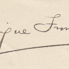 Manuscritos antiguos: ENRIQUE TROMPETA. CARTA MANUSCRITA, FIRMADA Y DATADA EN 1911, DIRIGIDA A MIGUEL MOYA.. Lote 179145532