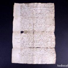 Manuscritos antiguos: CLAUSULA AL TESTAMENTO DE JUAN DE MANGUAS Y TORRES. BUITRAGO 1683. Lote 179180763