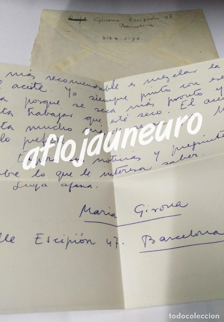 MARIA GIRONA I BENET - CARTA MANUSCRITA ORIGINAL FIRMADA (Coleccionismo - Documentos - Manuscritos)
