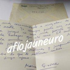 Manuscritos antiguos: MARIA GIRONA I BENET - CARTA MANUSCRITA ORIGINAL FIRMADA. Lote 180092015