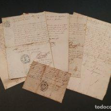 Manuscritos antiguos: LOTE 7 MANUSCRITOS EN FRANCES FECHADOS ENTRE 1850 Y 1858 VER FOTOGRAFIAS. Lote 180240585